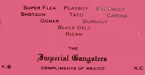 Imperial Gangsters card by Taco