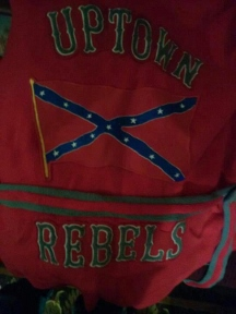 Uptown Rebels sweater and patch