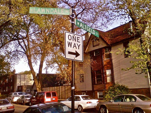 Lawndale And Altgeld Sign in Logan Square
